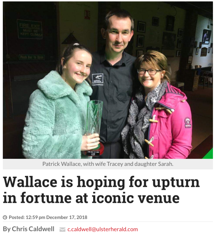 Patrick Wallace Interview - Ulster Herald December 17, 2018
