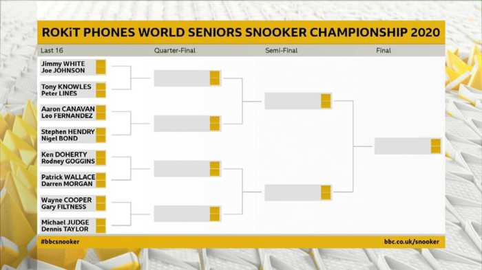 World Seniors Draw Chart